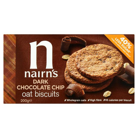 Nairn's Dark Chocolate Chip Biscuits 200g - dolanschemist.ie