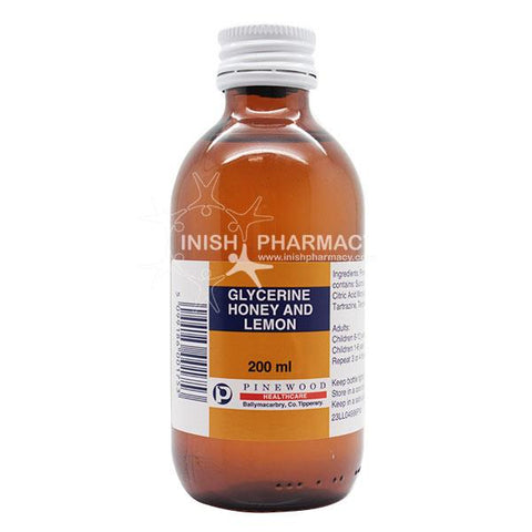 Pinewood Glycerine Honey and Lemon 200ml - dolanschemist.ie