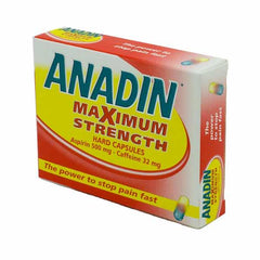 Anadin Max Strength Capsules 12 Pack - dolanschemist.ie
