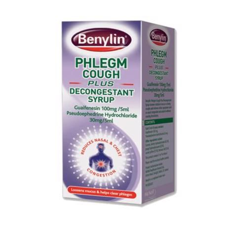 Benylin Phlegm Cough Plus Decongestant Syrup 100ml - dolanschemist.ie