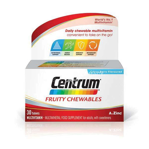 Centrum Fruity Chewables Multivitamin 30 Pack - dolanschemist.ie
