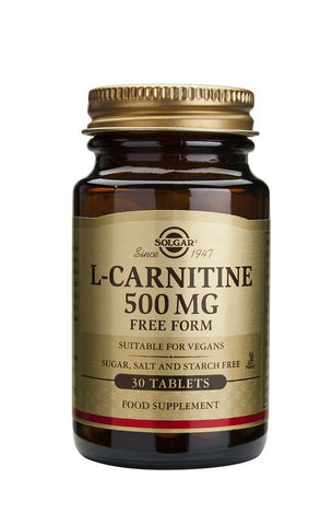 Solgar L-Carnitine 500MG 30 Tablets - dolanschemist.ie