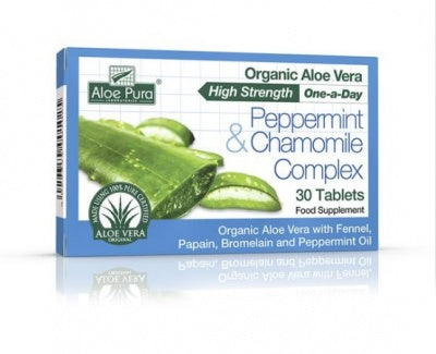 Aloe Pura Peppermint & Chamomile Complex 30 Tabs - dolanschemist.ie