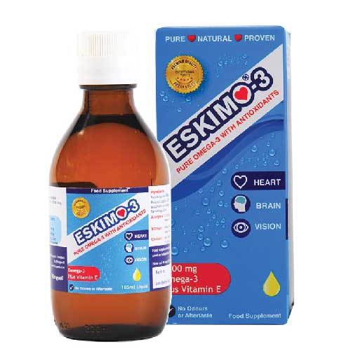 Eskimo-3 Omega-3 with Antioxidants 105ml Liquid