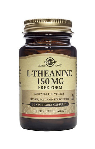 Solgar L-Theanine 150mg Free From 30 VegCapsules - dolanschemist.ie