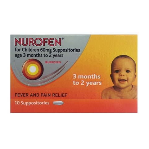 Nurofen for Children 60mg Suppositories (3-24 Months) - dolanschemist.ie