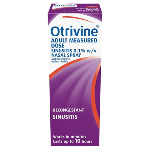 Otrivine Adult Measured Dose Sinusitis Nasal Spray 10ml - dolanschemist.ie