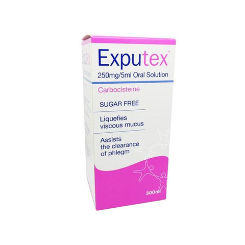 Exputex Carbocisteine 250mg/5ml Oral Solution - dolanschemist.ie