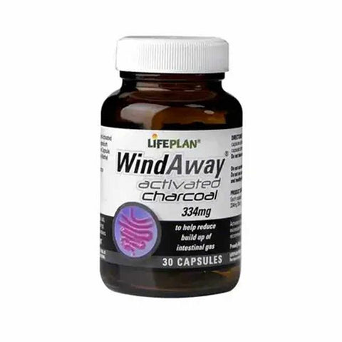 LifePlan WindAway Activated Charcoal Rapid Release 334mg - dolanschemist.ie