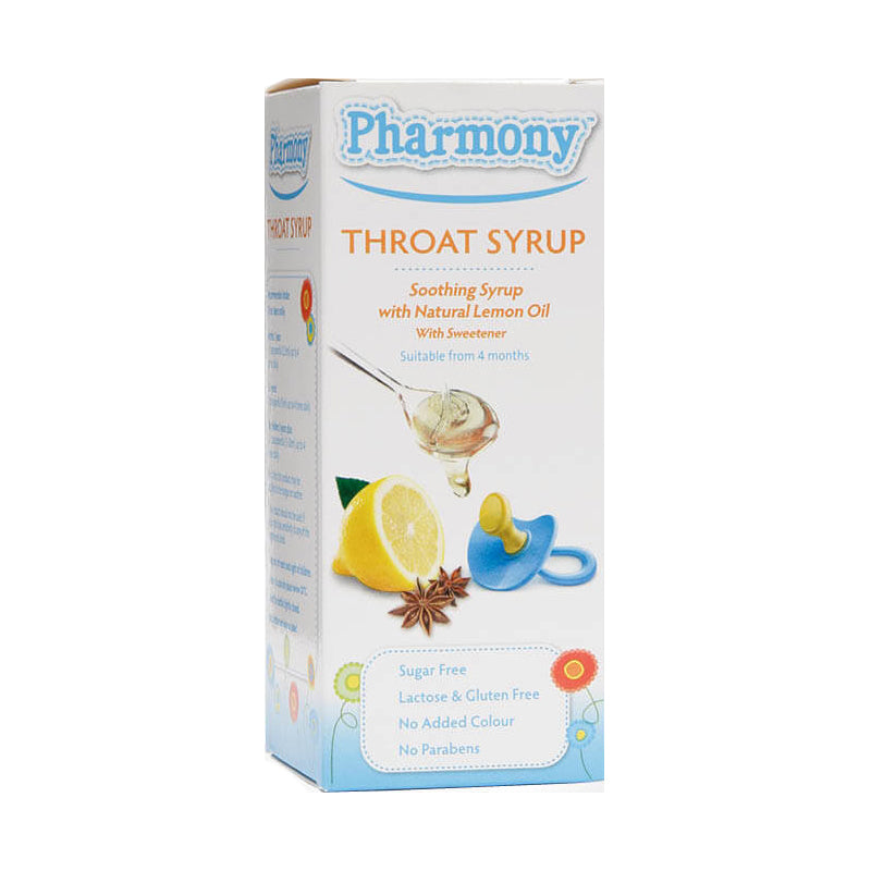 Pharmony Throat Syrup 100ml - dolanschemist.ie