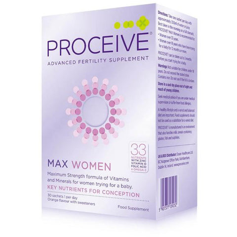 Proceive Advanced Fertility Support Max Women 30 Pack - dolanschemist.ie