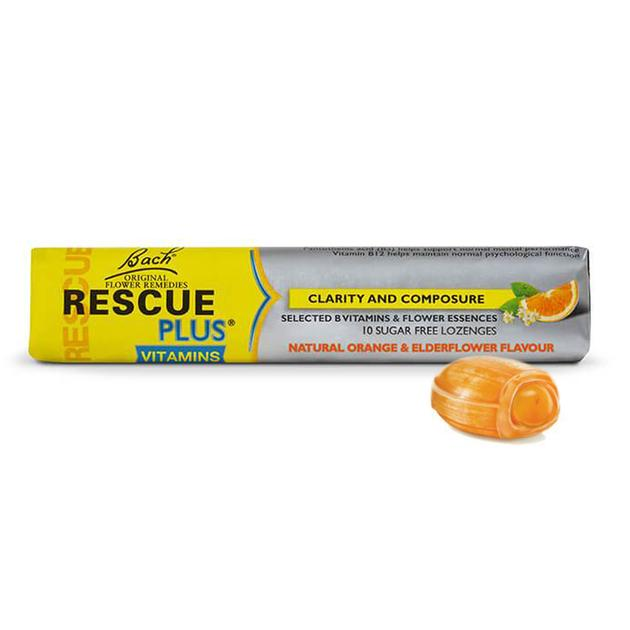 Bach Rescue Plus Natural Orange & Elderflower Lozenges
