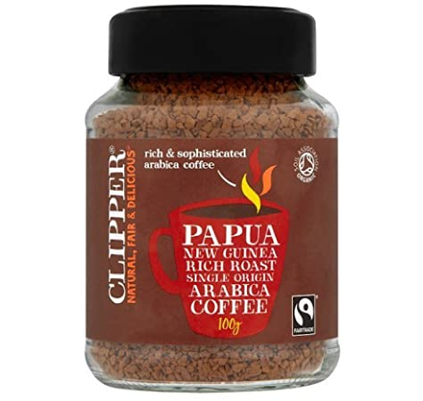 Clipper Papua New Guinea Rich Roast Single Origin Arabica Coffee 100g