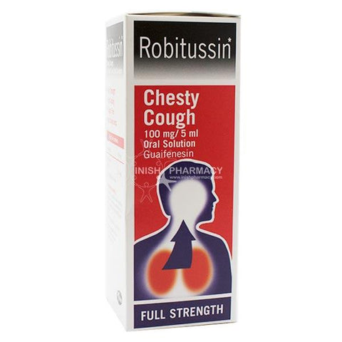 Robitussin Chesty Cough 100mg/5ml Guaifenesin Oral Solution 100ml - dolanschemist.ie