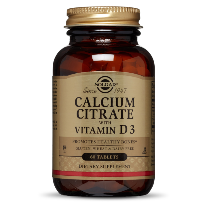 Solgar Calcium Citrate with Vitamin D3 60 Tablets