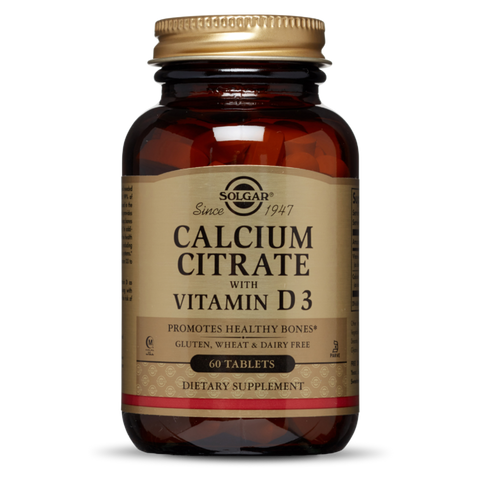 Solgar Calcium Citrate with Vitamin D3 60 Tablets - dolanschemist.ie