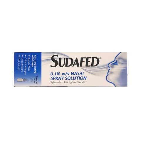 Sudafed 0.1% Nasal Spray Solution 15ml - dolanschemist.ie