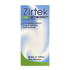 Zirtek Oral Solution 100ml - dolanschemist.ie