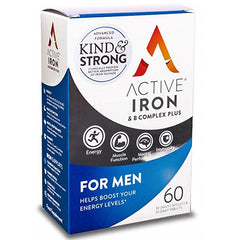 Active Iron & B Complex Plus For Men 60 Capsules - dolanschemist.ie
