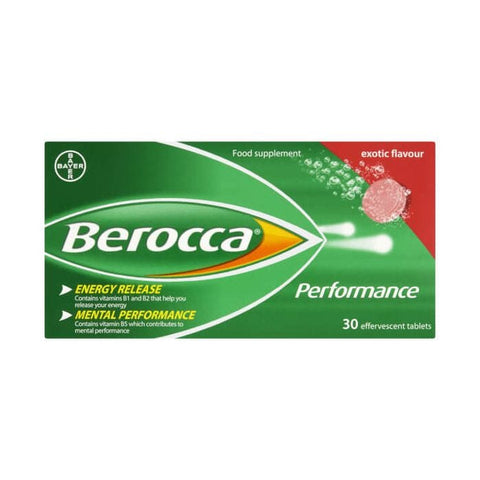 Berocca Performance Exotic Flavour 30 Tablets - dolanschemist.ie