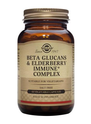 Solgar Beta Glucans & Elderberry Immune Complex 60 Vegetable Capsules