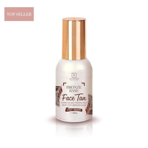 SCULPTED BRONZE BASE self tanning face drops (light medium ) - dolanschemist.ie