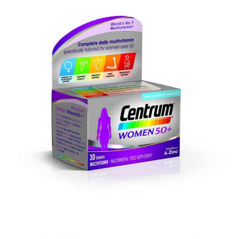 Centrum Women 50+ Multivitamin 30 Pack - dolanschemist.ie