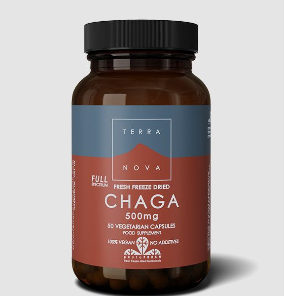 Terranova Fresh Freeze Dried Chaga 500mg Full Spectrum