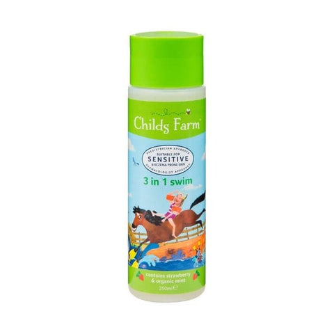 Childs Farm 3 in 1 Swim Strawberry & Organic Mint 250ml - dolanschemist.ie