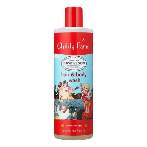 Childs Farm Hair & Body Wash-Sweet Orange 250ml - dolanschemist.ie