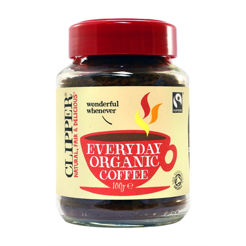 Clipper Fairtrade Wonderful Whenever Everyday Organic Coffee 100g - dolanschemist.ie