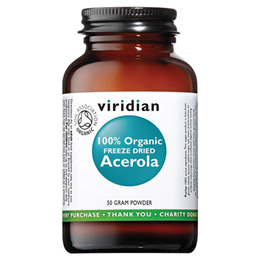 Viridian 100% Organic Freeze Dried Acerola