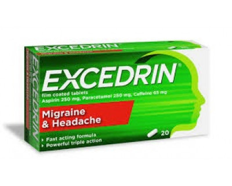 Excedrin Migraine & Headache Tablets 20 Pack