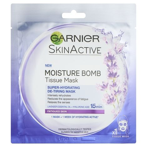 Garnier Moisture Bomb Tissue Mask Super Hydrating+Fatigue - dolanschemist.ie
