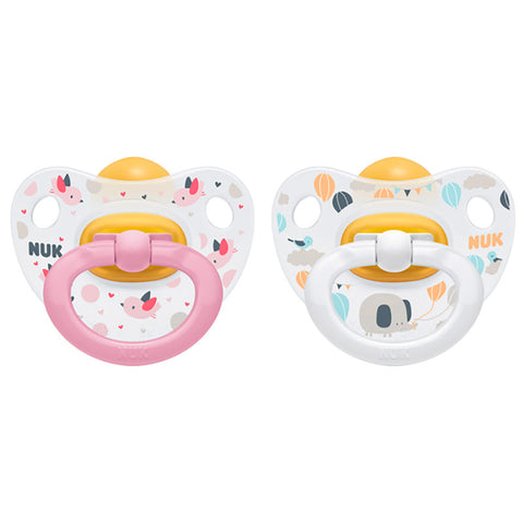 Nuk Happy Kids Pink-White Soother - dolanschemist.ie