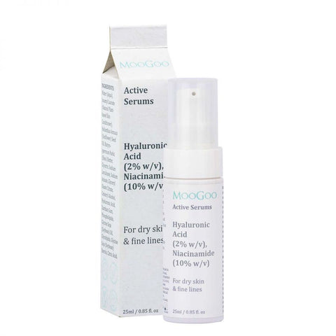 MooGoo Hyaluronic Acid 2% & Niacinamide 10% Active Serum 25ml - dolanschemist.ie