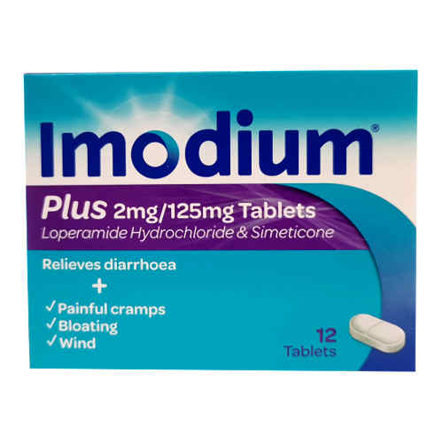 Imodium Plus 2mg/125mg 12 Tablets