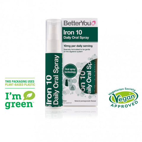 BetterYou Iron 10 Daily Oral Spray - dolanschemist.ie