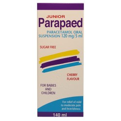 Junior Parapaed Paracetamol Oral Suspension Cherry Flavour - dolanschemist.ie