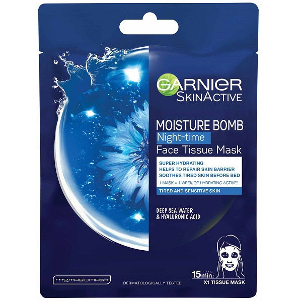 Garnier Moisture Bomb Tissue Mask-Night Time
