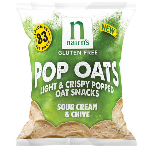 Nairn's Gluten Free Pop Oats Sour Cream & Chive