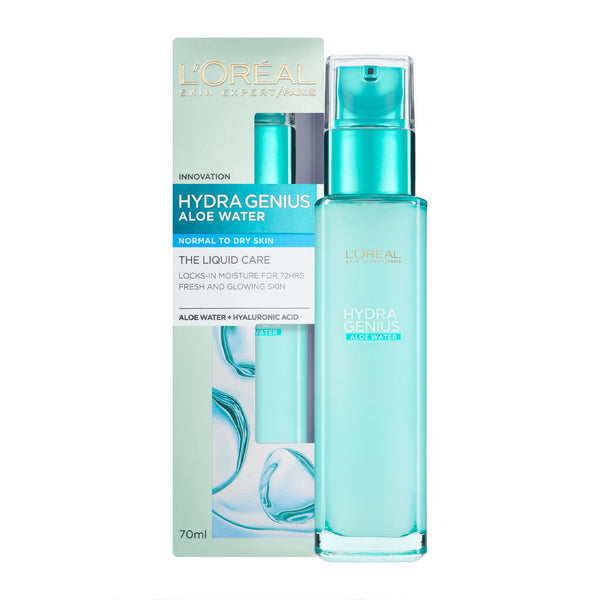 Loreal Hydra Genius Aloe Water Normal/Dry Skin 70ml - dolanschemist.ie