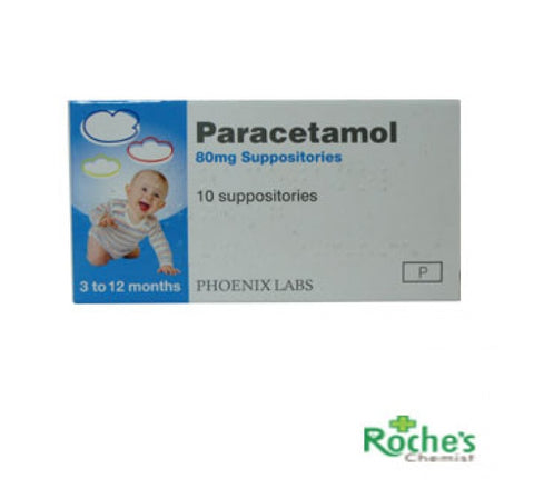 Paracetamol 80mg Suppositories - 10 Pack - dolanschemist.ie