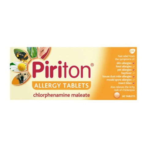 Piriton 4MG Tablets 30 Pack - dolanschemist.ie