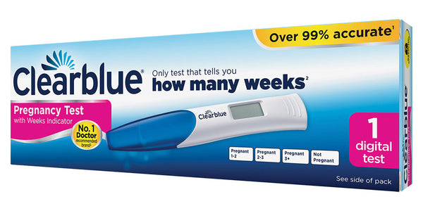 Clearblue Pregnancy Test with Weeks Indicator 1 Digital Test