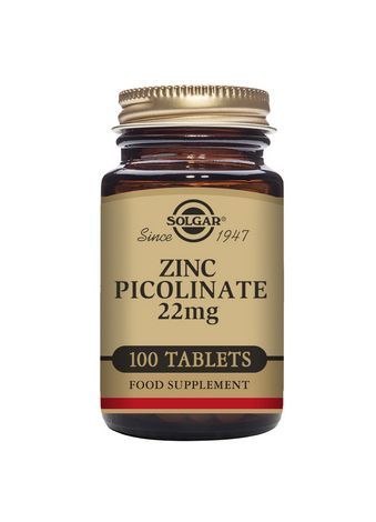 Solgar Zinc Picolinate 22mg 100 Tablets - dolanschemist.ie