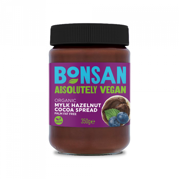 Bonsan Absolutely Vegan Organic Mylk Hazelnut Cocoa Spread