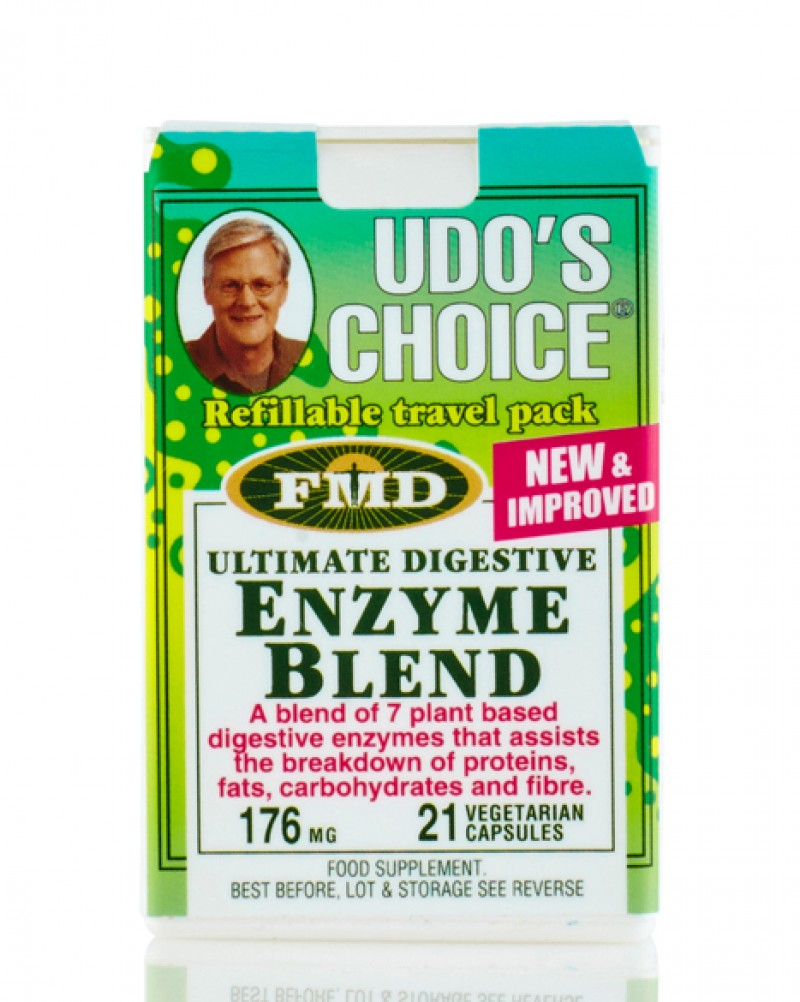 Udo's Choice Ultimate Digestive Enzyme Blend Refillable Travel Pack