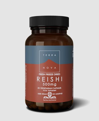 Terranova Fresh Freeze Dried Reishi 500mg - dolanschemist.ie