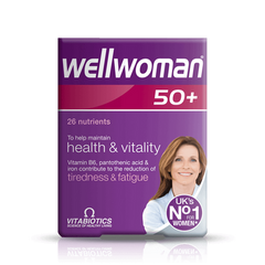 Vitabiotics Wellwoman 50+ 30 Tablets - dolanschemist.ie